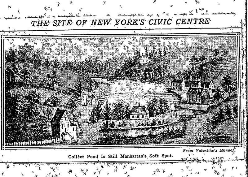 Collect Pond Is Still Manhattan's